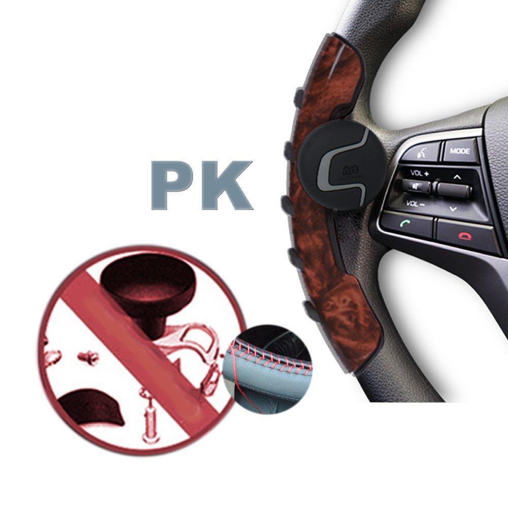 by Pensvox Steering knob Mini Steering Wheel knob Easy in Steering Wheel Cover SV-Art Black for Car Steering Wheel Accessories Interior Easy Installation No Tools Required Wheel Knobs