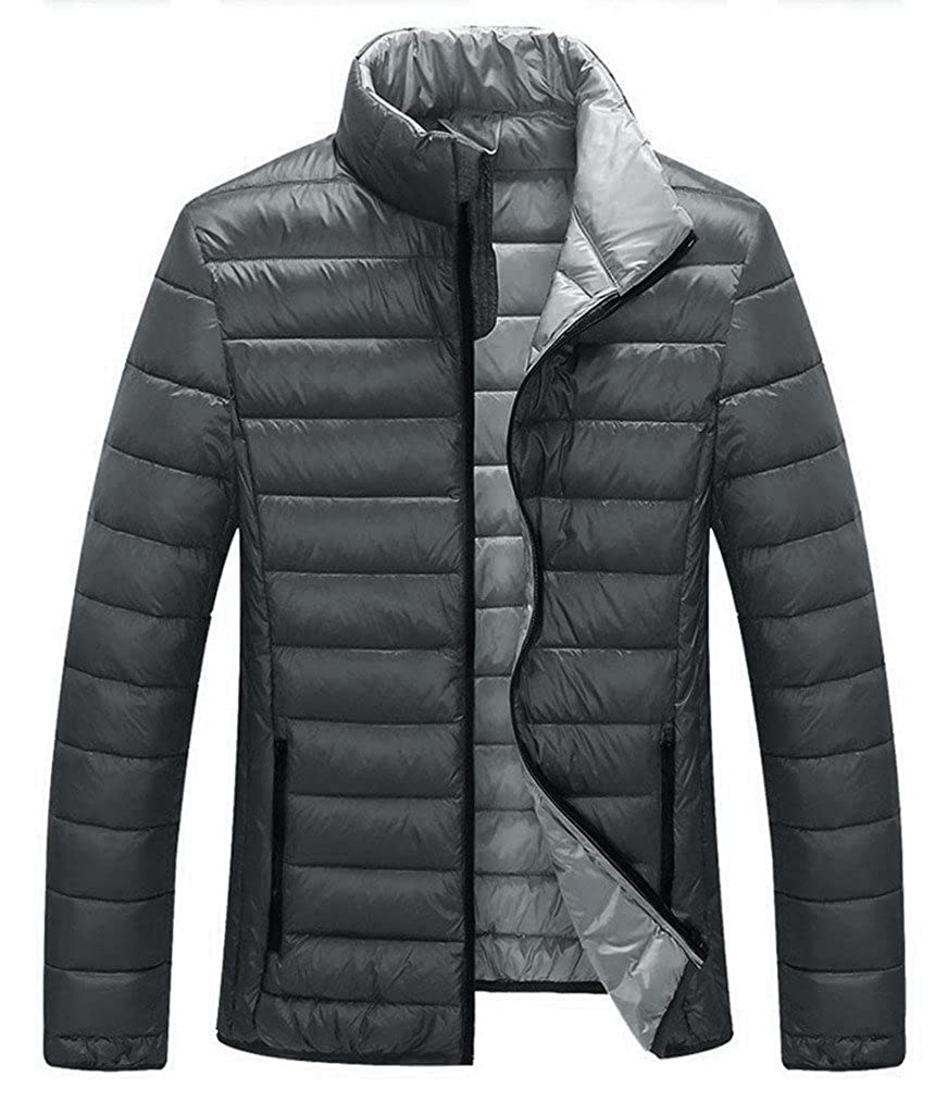 ZSHOW Men's Lightweight Stand Collar Packable Down Jacket USZXMENA0010