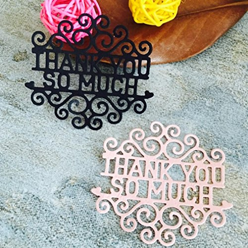 TOPUNDER Metal Cutting Dies Stencils For DIY Scrapbooking Photo Album Paper Card Gift C (Border Star Medallions)