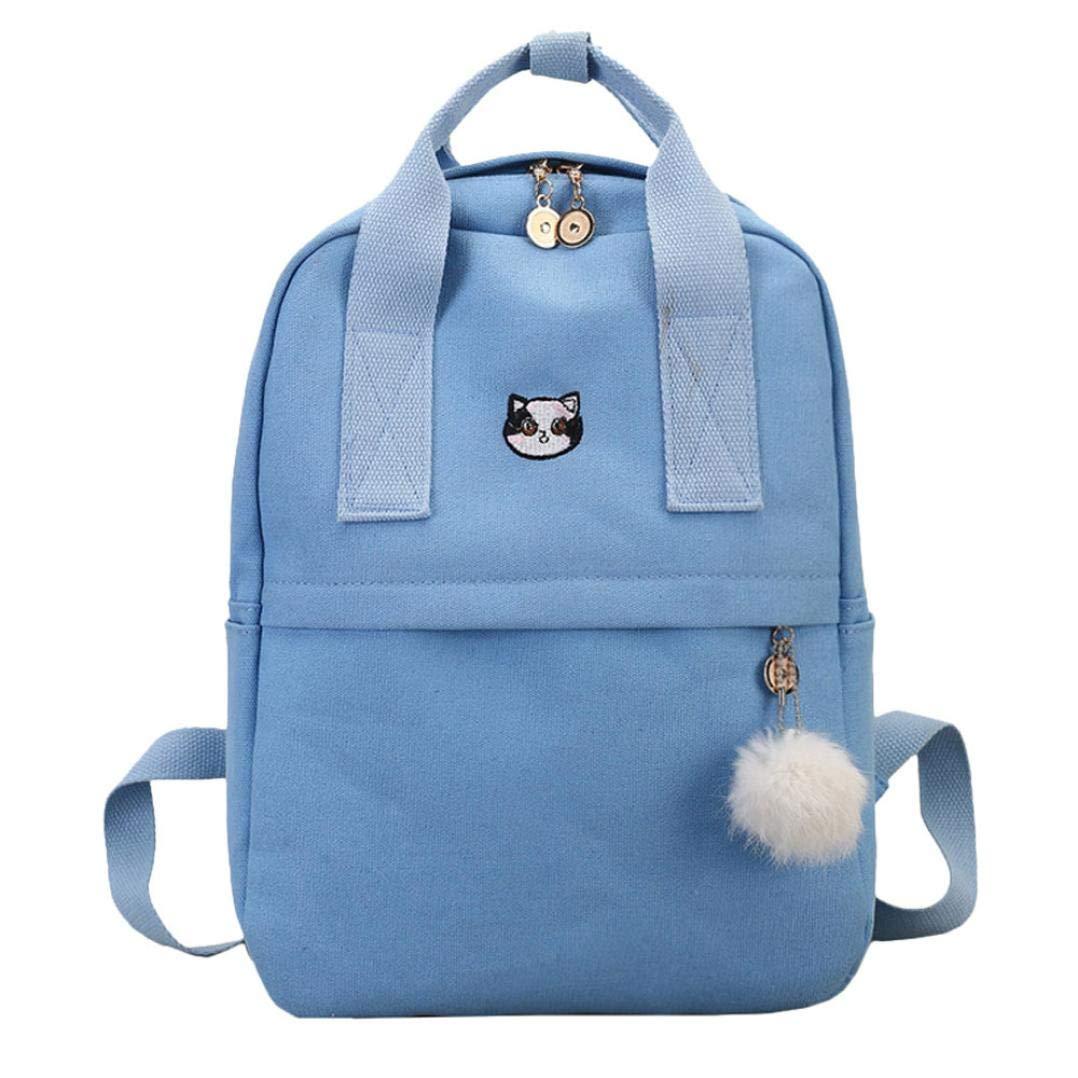 school bag for students,iOPQO Girl Canvas Backpack Satchel Travel Shoulder Bag