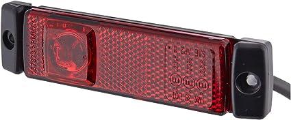Hella 2tm 008 645 951 Begrenzungsleuchte Led 24v Anbau Lichtscheibenfarbe Rot Led Lichtfarbe Rot Kabel 500mm Links Rechts Auto