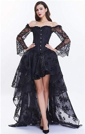 Satiable_Kleid damska czarno-czerwona gorsetowa sukienka gorset gorset kobiety nieregularna długa bluzka gorset maxi sukienka imprezowa dziewczynka karnawałowa impreza steampunk sukienka sukienka wieczorowa sukienka