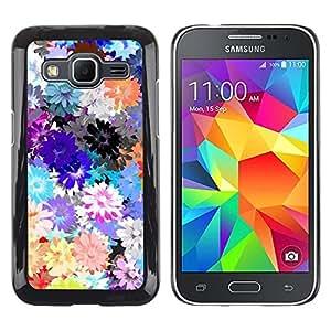 LECELL--Funda protectora / Cubierta / Piel For Samsung Galaxy Core Prime SM-G360 -- Spring Pattern Flowers Spring Daisy --