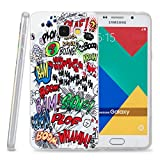 Kit Me Out CAN® Samsung Galaxy A3 (2016) [Shock Absorbing] [Thin Fit] TPU Gel Case Cover Skin Pouch - Multicoloured / White Comic Captions