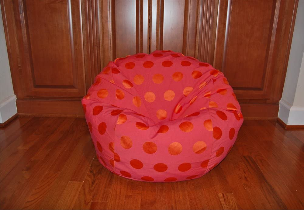 Products Delightful Dots Hot Pink Washable Kid Bean Bag Chair Ahh