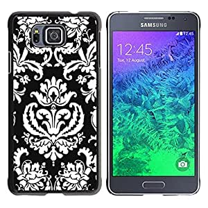 Paccase / SLIM PC / Aliminium Casa Carcasa Funda Case Cover para - Popular Pattern Wallpaper Art Black White Royal - Samsung GALAXY ALPHA G850