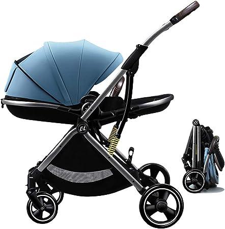 Opinión sobre Cochecito de bebé compacto, cochecito de viaje para niños, ligero y fácil de plegar, empuje bidireccional, toldo envuelto, absorción de impactos tridimensional, todo el coche se puede lavar