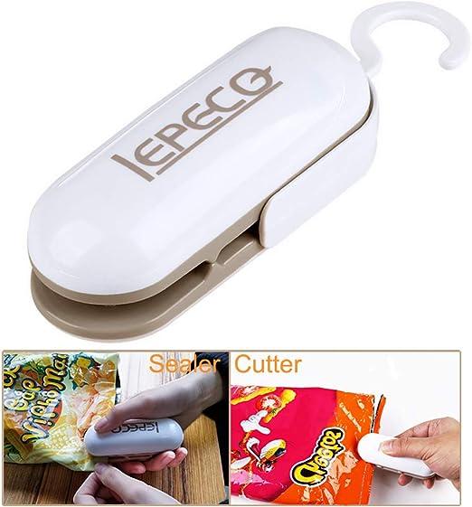 2in1 Candy Portable Handheld Heat Sealer for Plastic Sealing Bag Cutter Resealer