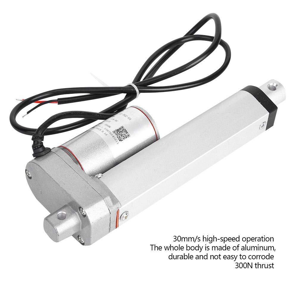 100mm Linear Actuator,JS-TGZ-U1 Electric Linear Actuator DC Motor Multi-Function Actuator 30mm//s 300N 12VDC IP45
