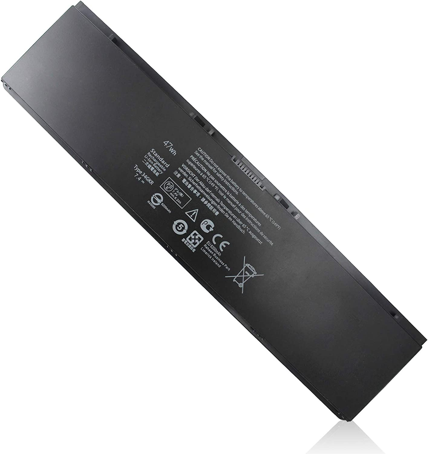 7.4V 47Wh 34GKR E7440 Laptop Battery Compatible with Dell Latitude E7440 E7450 3RNFD 451-BBFV G0G2M F38HT PFXCR T19VW E225846 0909H5 0G95J5 451-BBFS 451-BBFY V8XN3 5K1GW 4-Cell Battery Replacement New