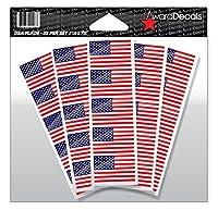 American Flag Sticker Decal for Football Helmets (Football, Baseball, Softball, Hockey, Lacrosse, Etc.) 50 Stickers