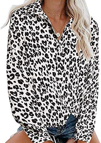 Camisa De Mujer Leopardo Blusa Cuello En V De Manga Larga Botones Camisetas Cuello En V Camisas De Vestir Mangas Cortas Casual Oficina BáSico Suelto Casual Dias (Blanco, EU:38): Amazon.es: Zapatos y