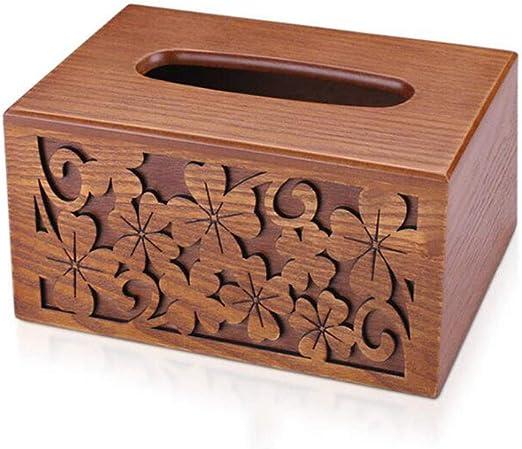 xy Caja de pañuelos- Caja De Madera para Pañuelos, Rollo De Papel ...