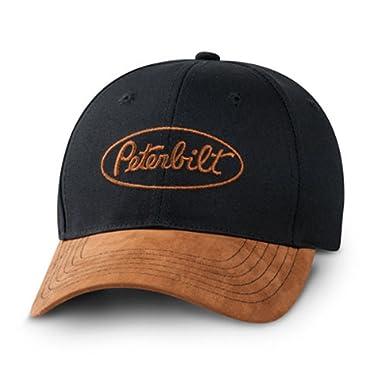 Peterbilt Logo Black   Tan Strapback Cap Hat at Amazon Men s ... 5e5d28115e98
