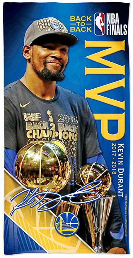 f6ea6de6b909 Image Unavailable. Image not available for. Color  McArthur Kevin Durant  2018 Finals MVP Golden State Warriors Back ...