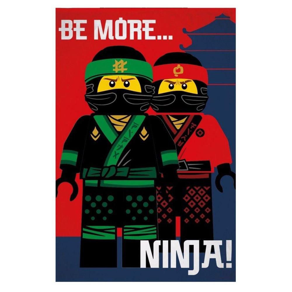 LEGO Ninjago Movie Ninja Fleece Blanket Character World