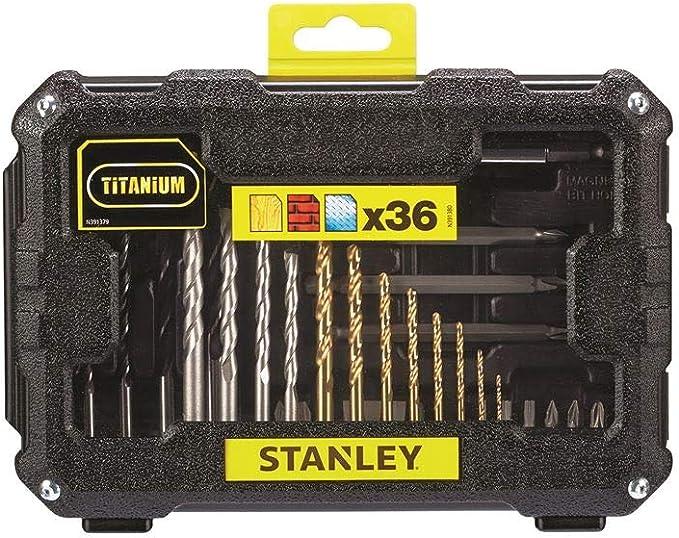 Stanley FatMax STA7222-XJ Juego de 36 piezas para taladrar y atornillar: Amazon.es: Bricolaje y herramientas