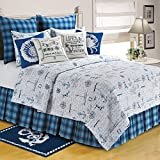 C&F Home 82053.10592 Fair Winds King Quilt, Blue/White, 108'' by 92''