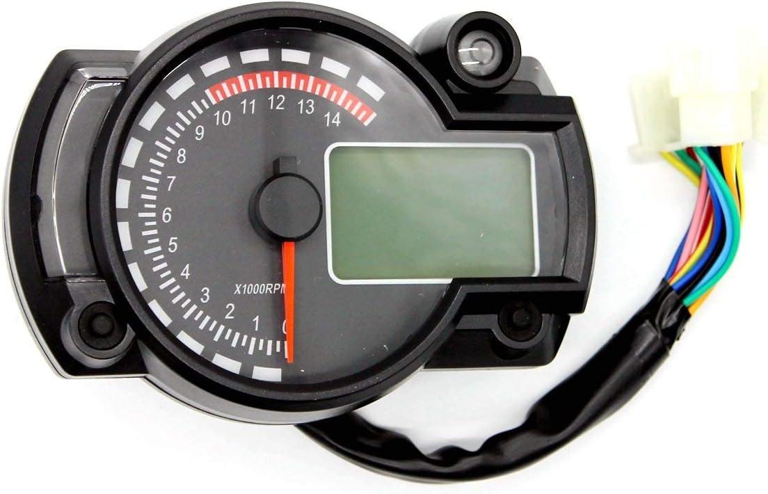 Drehzahlmesser austauschbar f/ür alle ATV-Benzinmotor UTV Dirtbike Motorrad Motorrad-Au/ßenborder Schneemobil pitbike PWC Marine Boot