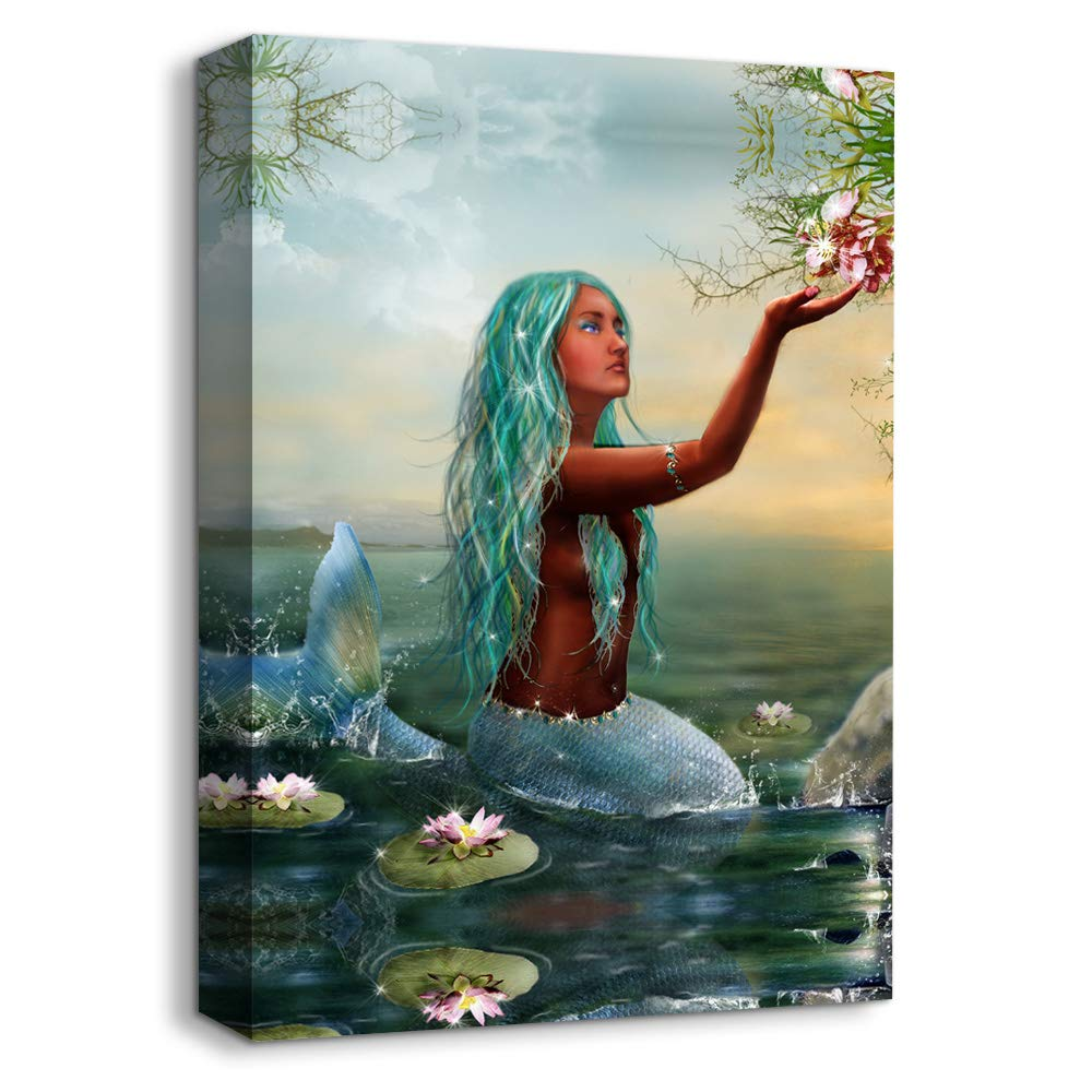 signwin - Canvas Wall Art - Elegant Mermaid - Canvas Prints Home Artwork Decoration for Living Room,Bedroom - 16x24 inches