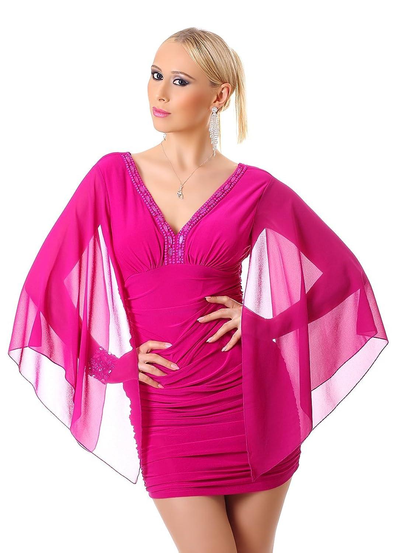Damen Chiffonkleid Minikleid Mini Kleid Cocktailkleid Abendkleid ...