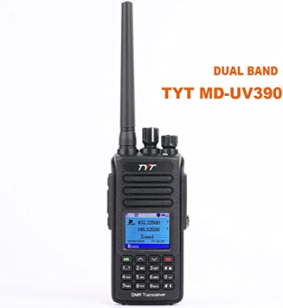 TYT MD-UV390 Digital Dual Band 136-174MHz 400-480MHz Two Way Radio Waterproof Dustproof IP67 Walkie Talkie