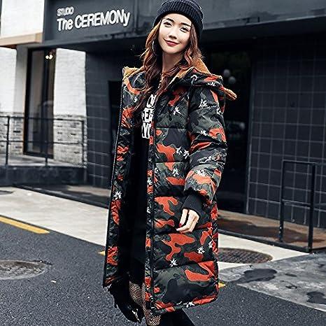 Xuanku Winter's Jacket Women Baumwolle, Die In Der Lange Abschnitt Von Losen Brot Bekleidung Tarnung Daunenjacke Groß Baumwolle - Gepolstert Wind