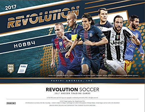 (2016-17 Panini Revolution Soccer Hobby Box (8 Packs of 5 Cards: At least 8 Parallels and 5 Inserts))