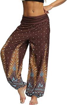 Womens Retro Hippie Gypsy Harem Pants Yoga Boho Palazzo Loose Trousers Plus Size