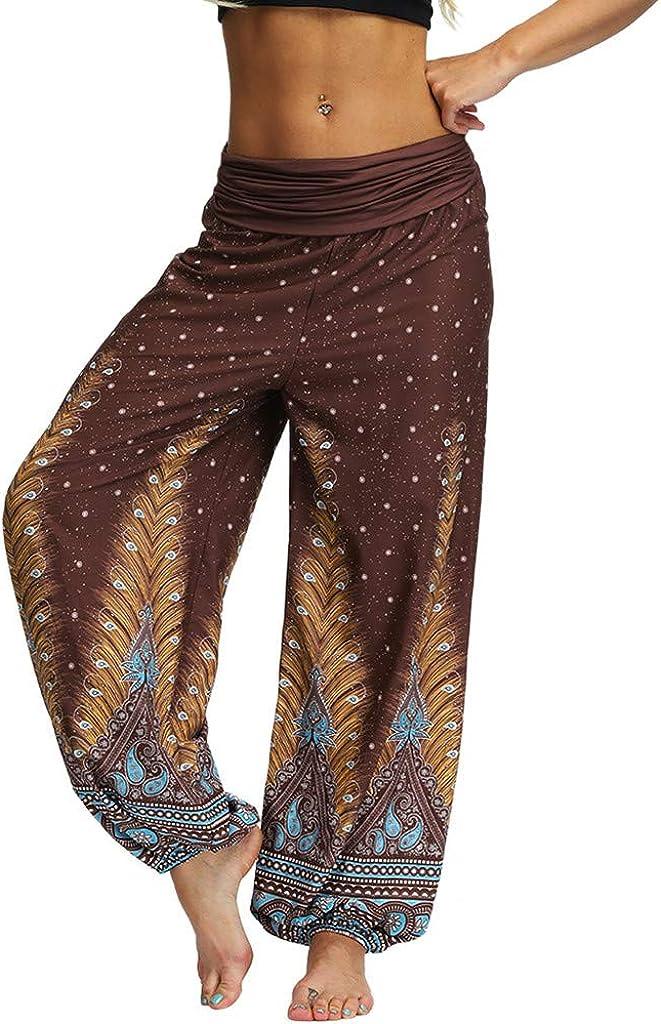 VEZAD Women's Harem Pants Yoga Pants Plus Size Solid Color Casual Loose Trousers: Clothing