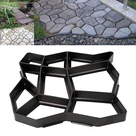TC-Home DIY Garden Path Maker Mold Paving Cement Brick Mold Ornament Stone  Road (43cm x 43cm)
