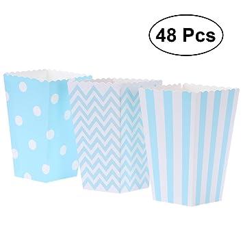 NUOLUX 48pcs cajas de palomitas cartón caramelo contenedor patrón de ...
