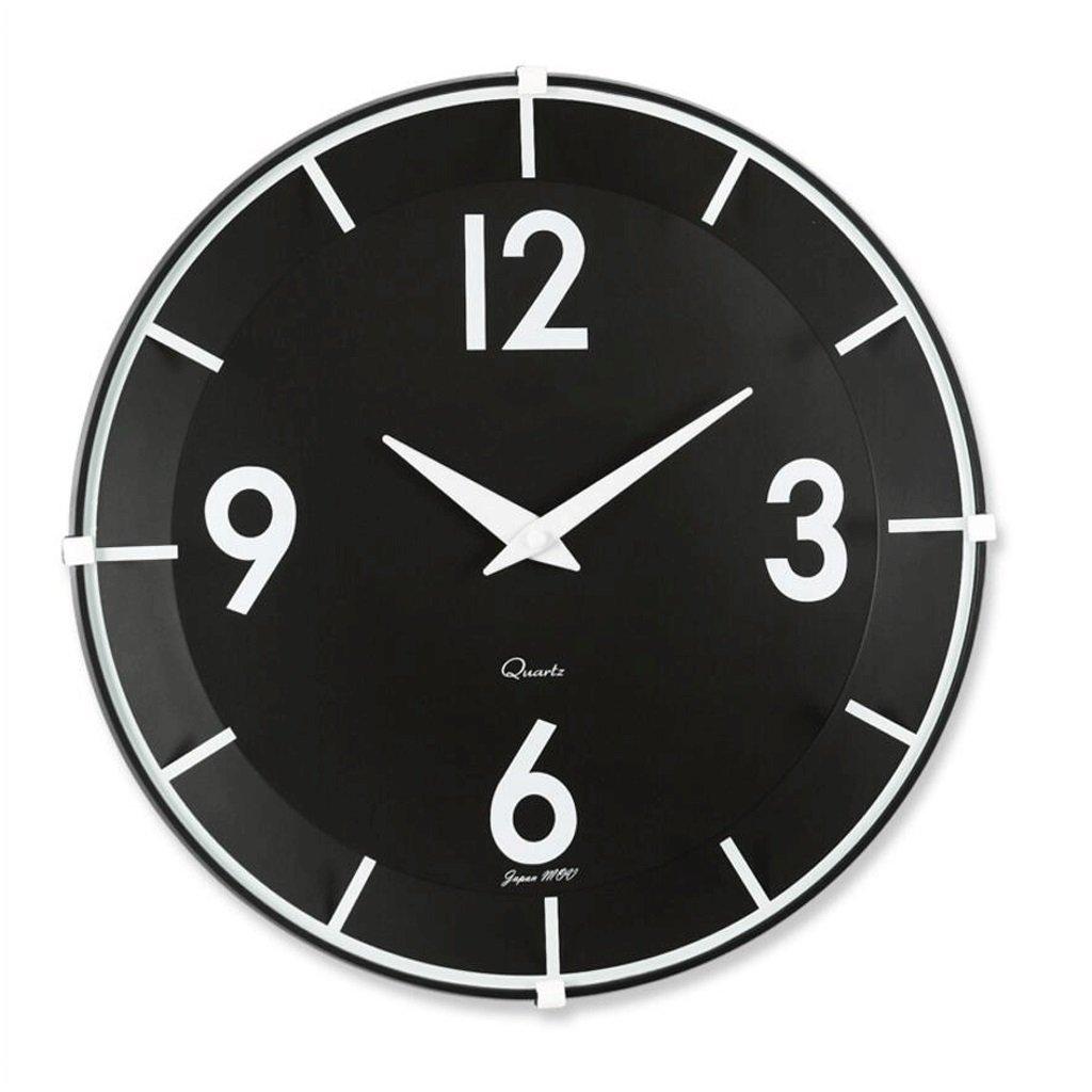 ファッションウォールクロッククリエイティブミュートテーブルクロックを片付けるホームシングルサイドウォールクロック GAODUZI (色 : Black) B07FNJXVD9 Black Black