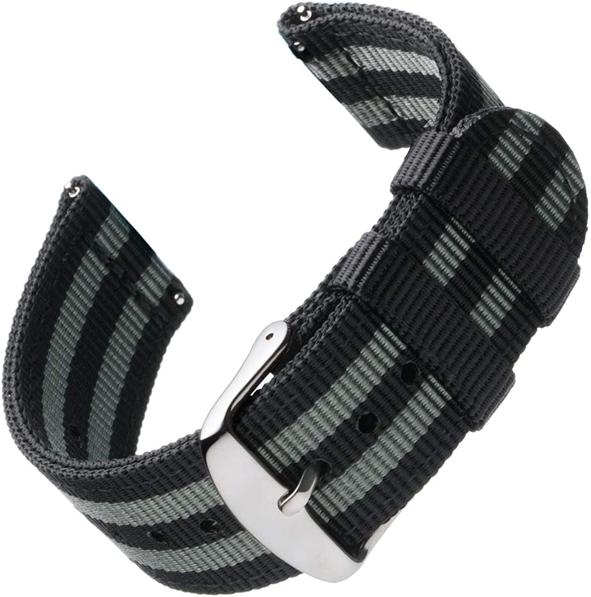 Archer Watch Straps - Premium Nylon Quick Release Replacement Watch Bands for Men and Women, Watches and Smartwatches   Multiple Colors, 18mm, 20mm, 22mm