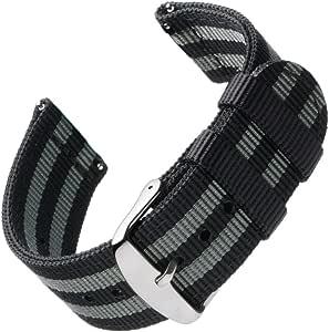 Archer Watch Straps   Repuesto de Correa de Reloj de Nailon para Hombre y Mujer, Correa Fácil de Abrochar para Relojes y Smartwatch, 18mm, 20mm, 22mm