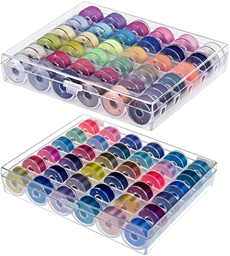 72 piezas de hilo de coser con estuche de Bobbin para máquina de coser de varios colores: Amazon.es: Juguetes y juegos