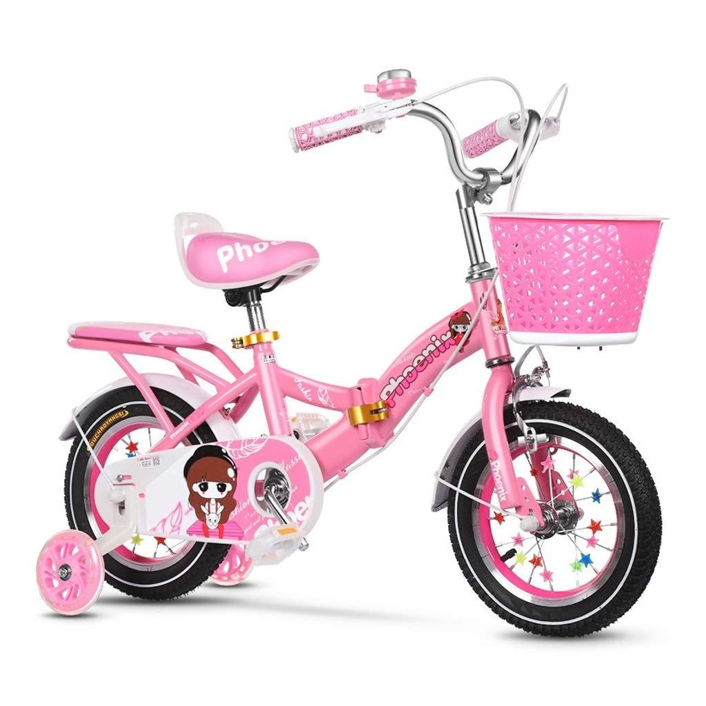 子供の自転車2-3-4-6-7-8歳の自転車の少年少女自転車折りたたみ自転車でサイレントトレーニングホイール 14in  B07QWWYXNX