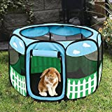 Pet Puppy Dog Playpen Exercise Pen Kennel Tent Play Pen Foldable Indoor Outdoor (Small)