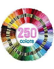LOVIMAG Embroidery Floss 250 Skeins Per Pack for Cross Stitch Threads, Friendship Bracelets Floss, Aroic Craft Floss