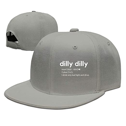 43010ab9e39 Dilly Dilly Bud Light Meaning Dad Hat Bill Hat Baseball Cap Hat Falt Hat at  Amazon Men s Clothing store