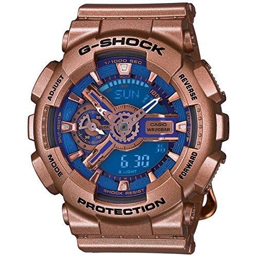 Casio G-Shock G-Series Blue Dial Gold Tone Quartz Women's Watch (Gold Tone Blue Dial)