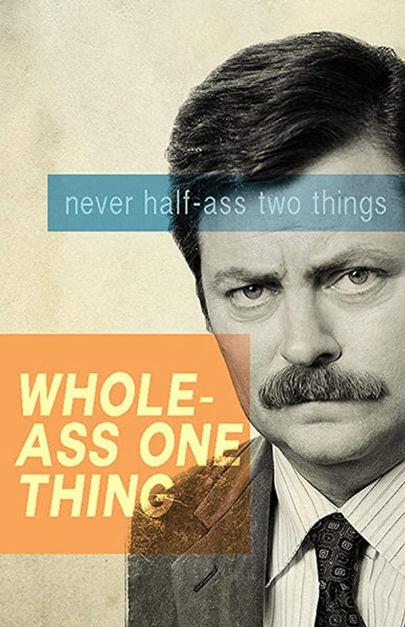 Poster Ron Swanson Print Home Decor Wall Art Parks and Recreation Gift