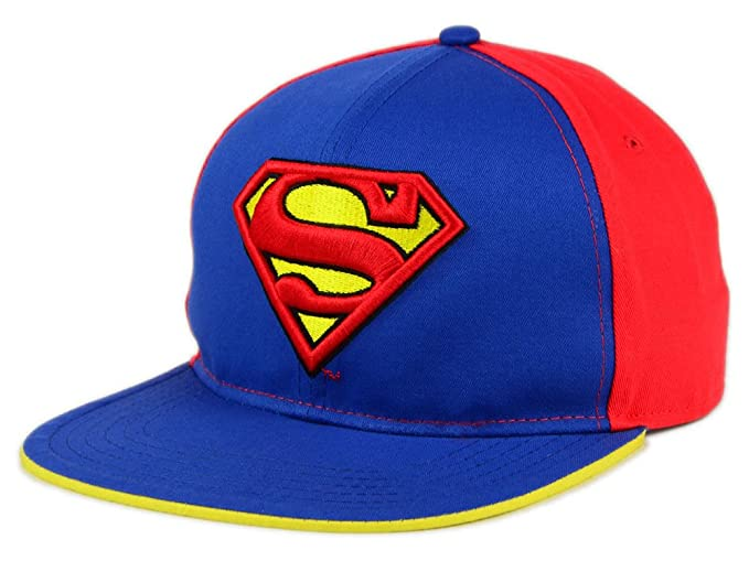 4a154465 DC Comics Superman 3-D Shield Logo Adult Snapback Cap Hat at Amazon ...