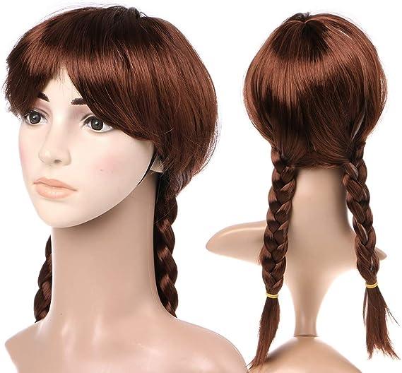 Peluca larga de anime trenzas de llwei258 con diseño de Frozen Snow Queen ANNA para cosplay, para niños, adultos, para fiestas: Amazon.es: Belleza