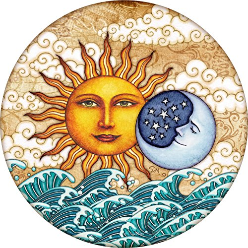 Ocean Sunrise Sun Moon Spare Tire Cover for Jeep RV Camper VW Trailer etc(Select popular sizes from drop down menu or contact us-ALL SIZES AVAILABLE) 225/75r16