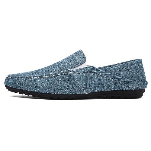 Mocasines Hombre Tela Alpargatas Moda Pisos Zapatos Hombre Casual Slip En Los Zapatos De CáñAmo: Amazon.es: Zapatos y complementos