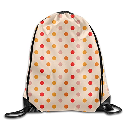 923676803c84 Image Unavailable. Image not available for. Color  Polka Dots Drawstring Bag  ...