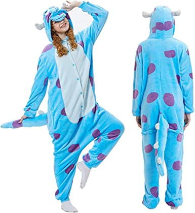 Kigurumi Pajamas-Unisex Sulley Onesie Halloween Animal Sullivan ...