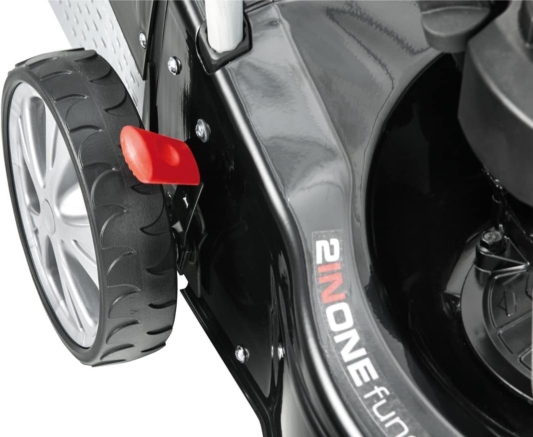 1.8 kW Motorleistung 46 cm Schnittbreite robustes Stahlblechgeh/äus Schnitth/öhe 7-fach zentral verstellbar AL-KO Benzin-Rasenm/äher Classic 4.65 P-B f/ür Rasenfl/ächen bis 1.100 m/²