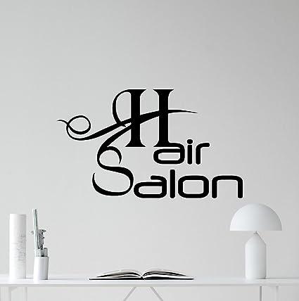 Amazon.com: N.SunForest Hair Salon Wall Decal Stylist Barbershop ...
